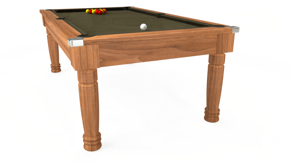 7ft Majestic Pool Dining Table in Light Walnut with Hainsworth Elite-Pro Olive cloth delivered and installed - £1,280.00