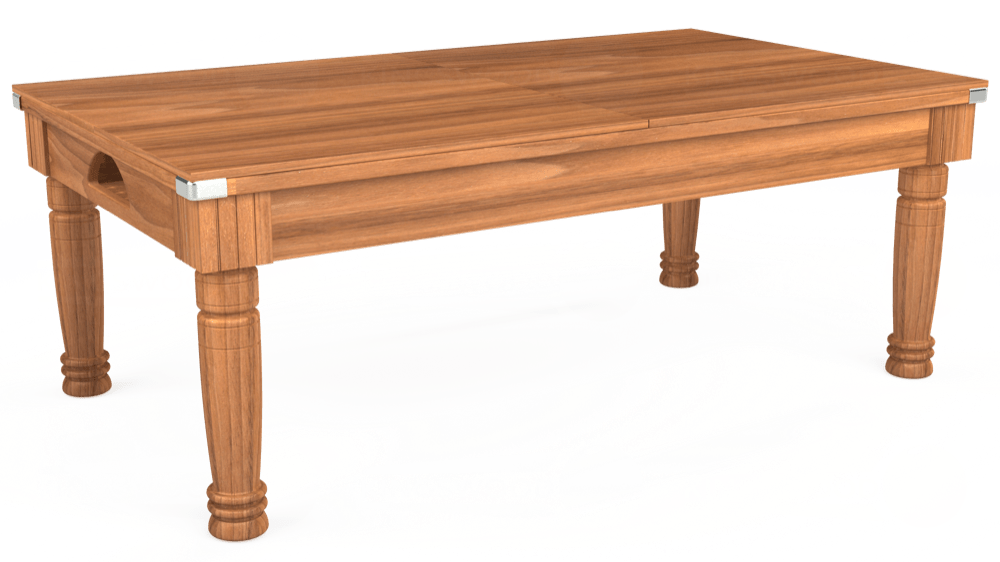 7ft Majestic Pool Dining Table in Light Walnut with Hainsworth Elite-Pro Petrol Blue cloth delivered and installed - £1,280.00