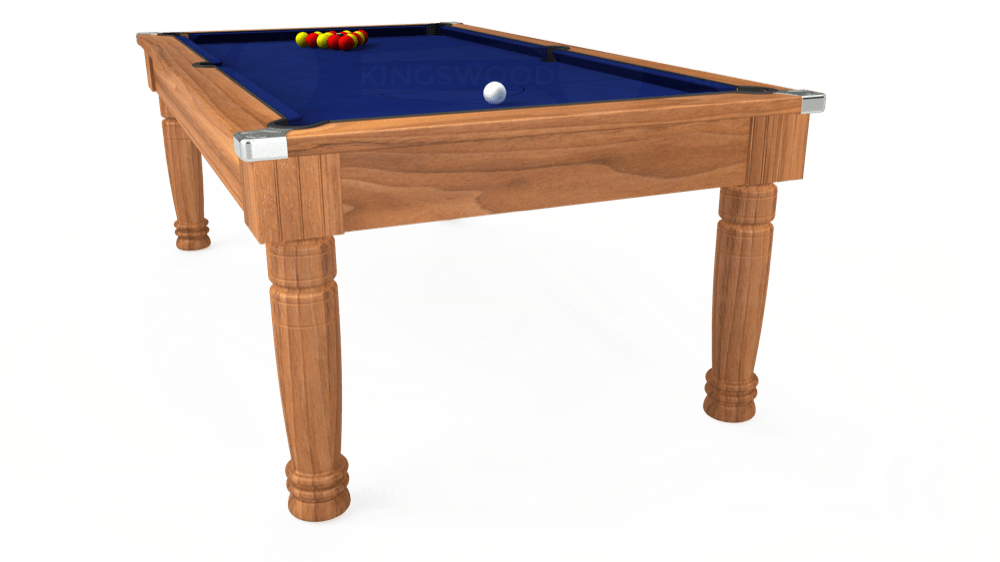 7ft Majestic Pool Dining Table in Light Walnut with Hainsworth Elite-Pro Royal Blue cloth delivered and installed - £1,280.00