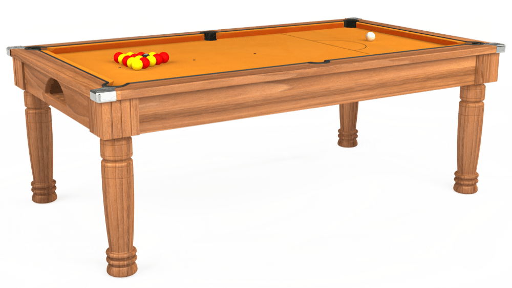 7ft Majestic Pool Dining Table in Light Walnut with Hainsworth Smart Gold cloth delivered and installed - £1,280.00