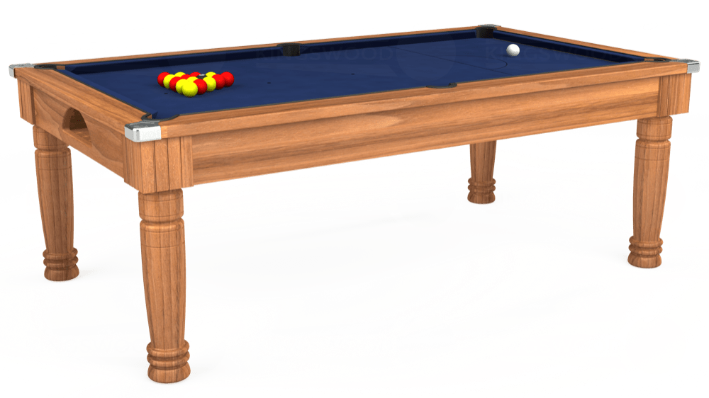 7ft Majestic Pool Dining Table in Light Walnut with Hainsworth Smart Navy cloth delivered and installed - £1,280.00