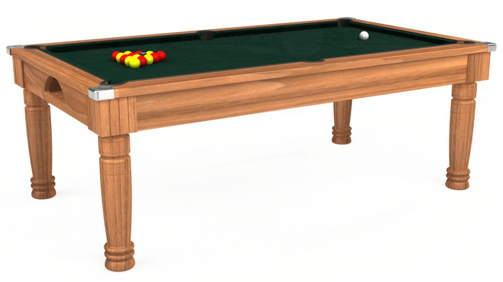 7ft Majestic Pool Dining Table in Light Walnut with Hainsworth Smart Ranger Green cloth delivered and installed - £1,280.00