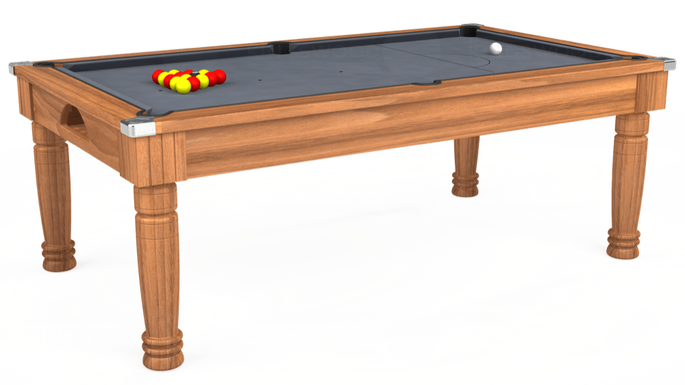 7ft Majestic Pool Dining Table in Light Walnut with Hainsworth Smart Silver cloth delivered and installed - £1,160.00