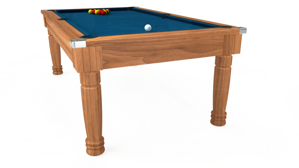 7ft Majestic Pool Dining Table in Light Walnut with Hainsworth Smart Slate cloth delivered and installed - £1,280.00