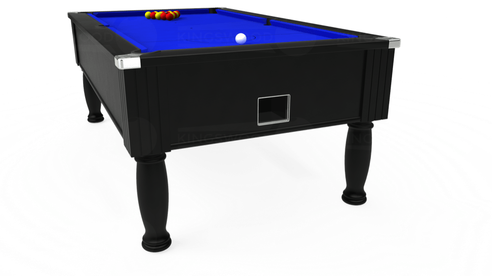 7ft Monarch Free Play Pool Table in Black with Standard Blue cloth delivered and installed - £1,150.00
