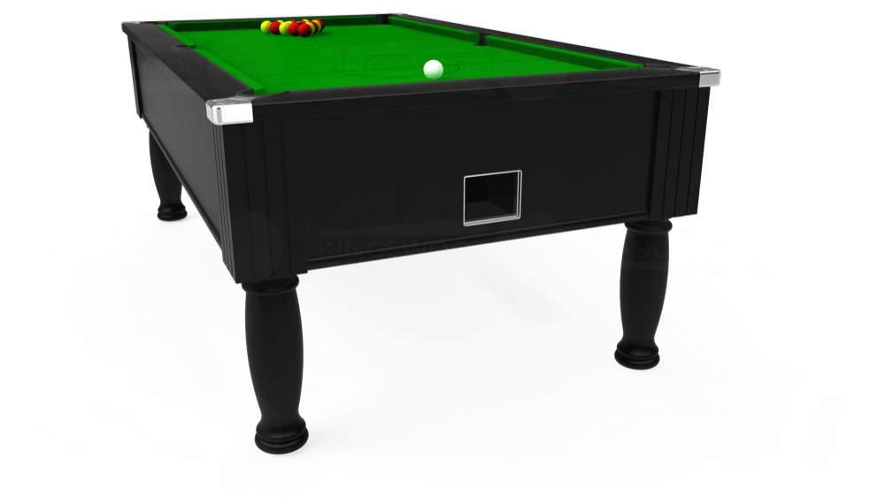 6ft Monarch Free Play Pool Table in Black with Standard Green cloth delivered and installed - £1,150.00