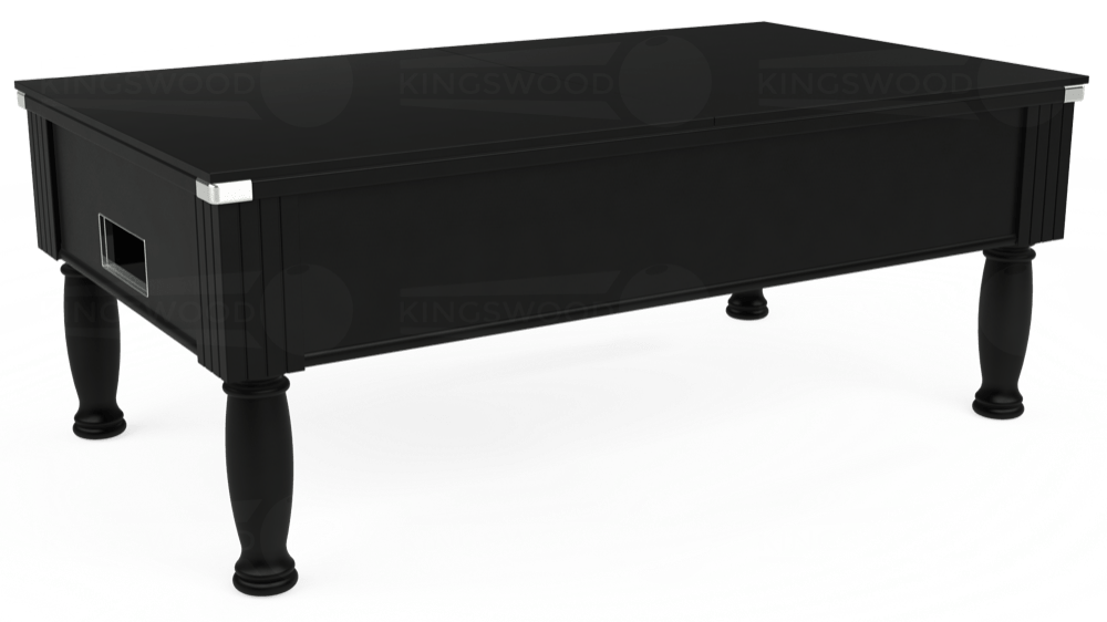 7ft Monarch Free Play Pool Table in Black with Hainsworth Elite-Pro Bankers Grey cloth delivered and installed - £1,250.00