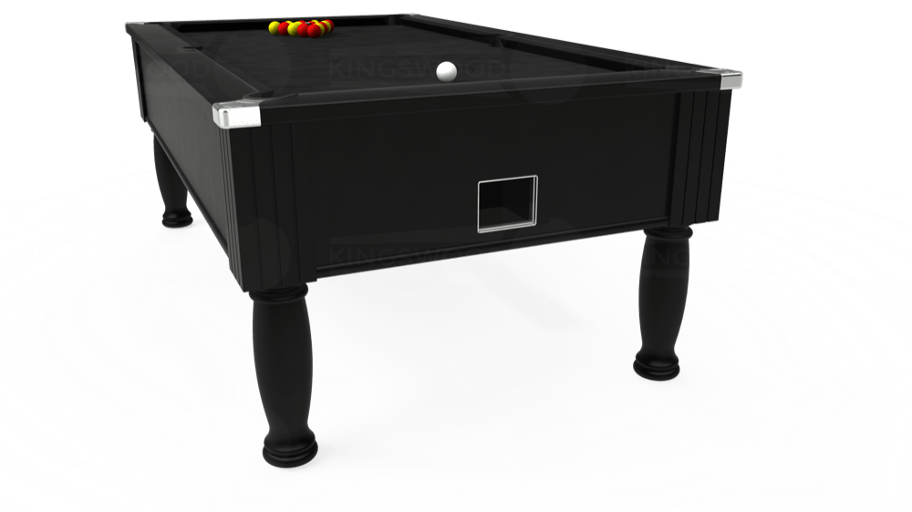 7ft Monarch Free Play Pool Table in Black with Hainsworth Elite-Pro Black cloth delivered and installed - £1,250.00