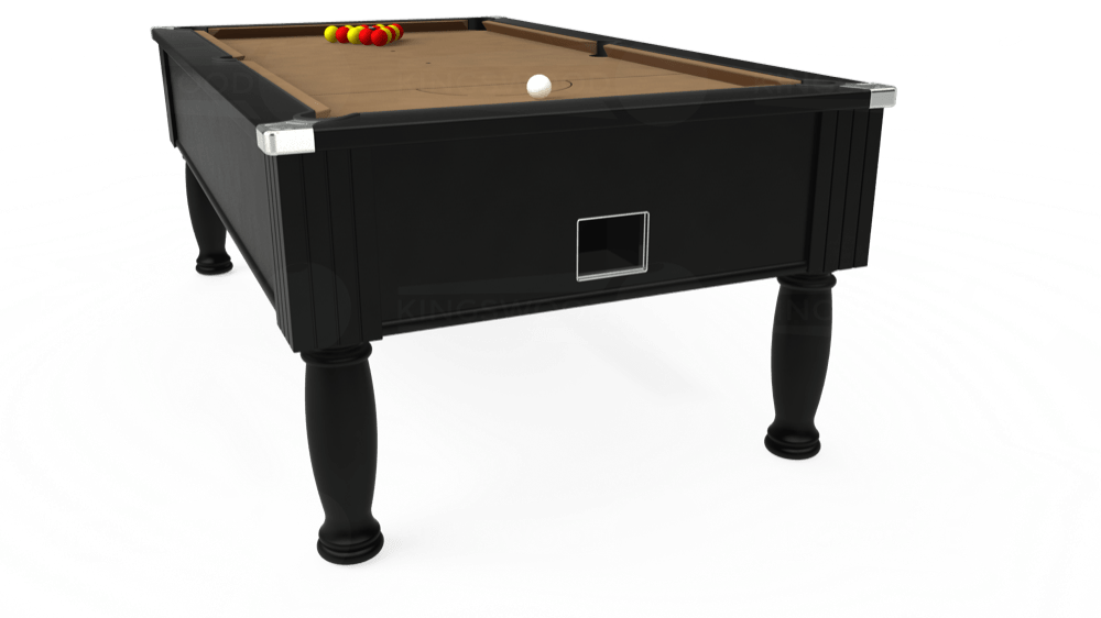 7ft Monarch Free Play Pool Table in Black with Hainsworth Elite-Pro Camel cloth delivered and installed - £1,250.00