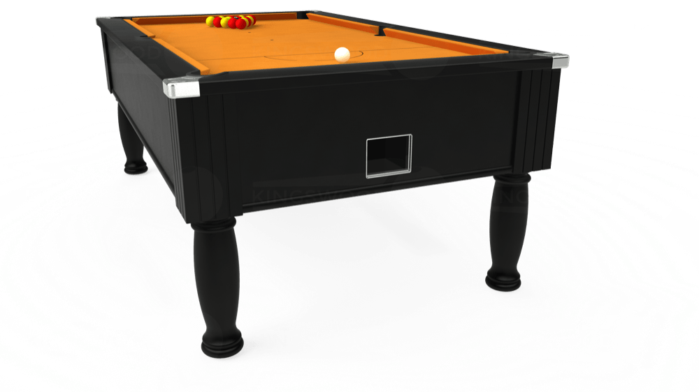 7ft Monarch Free Play Pool Table in Black with Hainsworth Smart Gold cloth delivered and installed - £1,250.00
