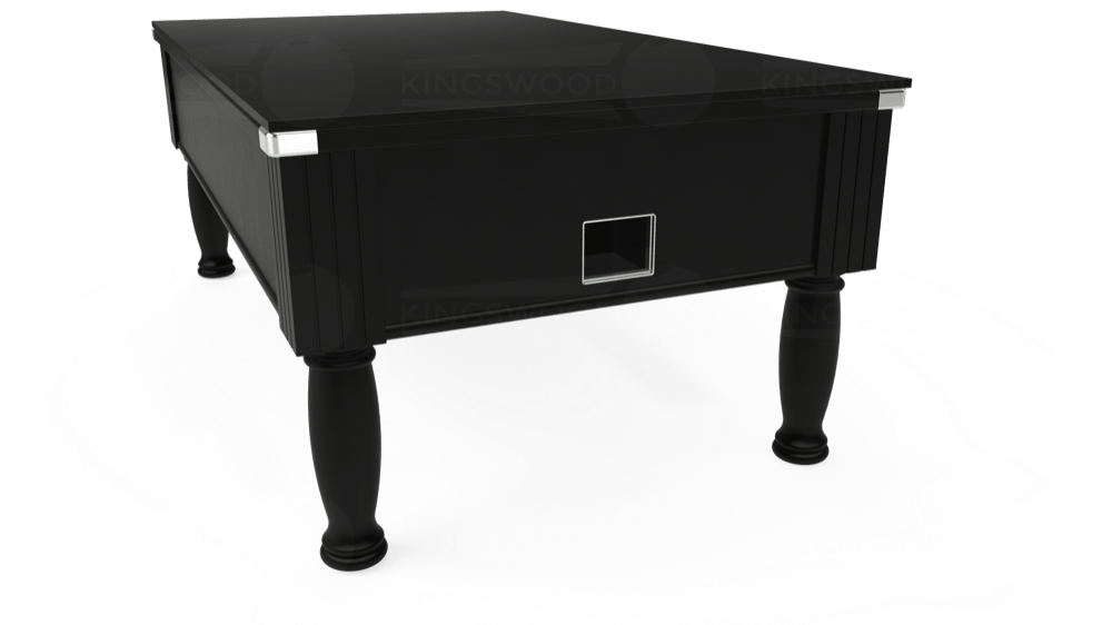 7ft Monarch Free Play Pool Table in Black with Hainsworth Smart Royal Navy cloth delivered and installed - £1,250.00