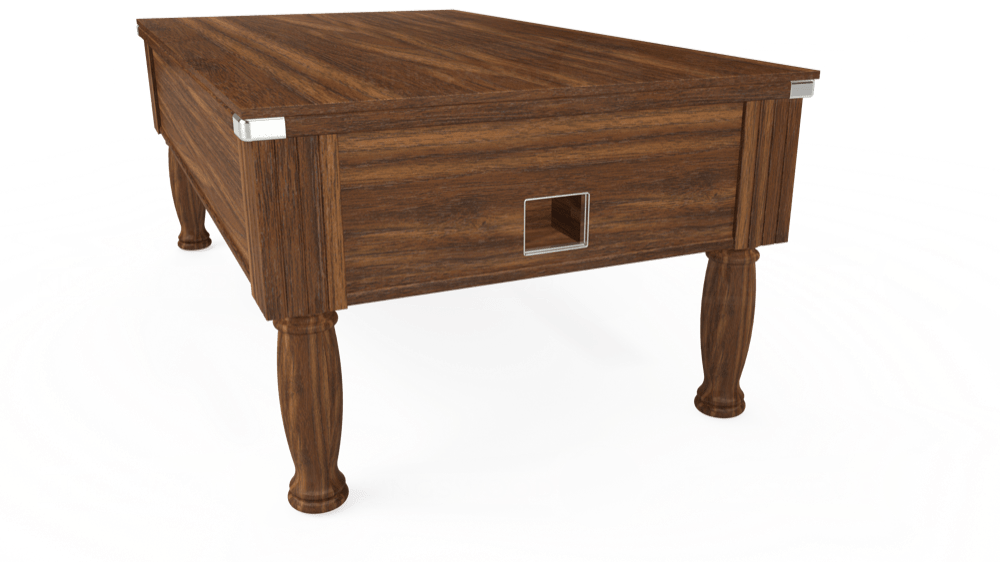 7ft Monarch Free Play Pool Table in Dark Walnut with Standard Black cloth delivered and installed - £1,150.00