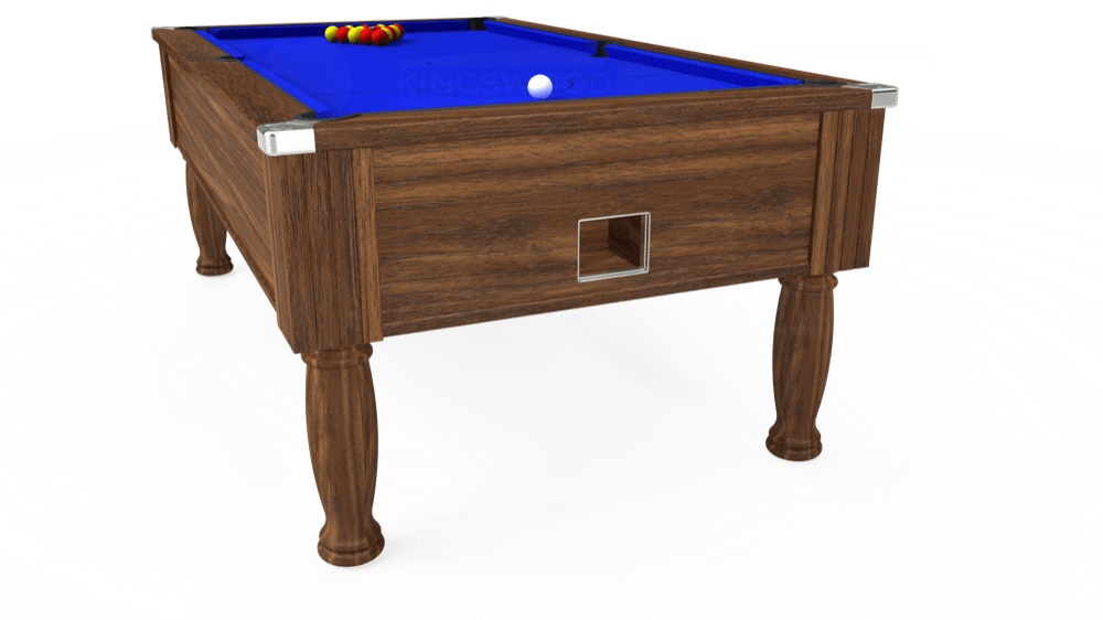 7ft Monarch Free Play Pool Table in Dark Walnut with Standard Blue cloth delivered and installed - £1,150.00
