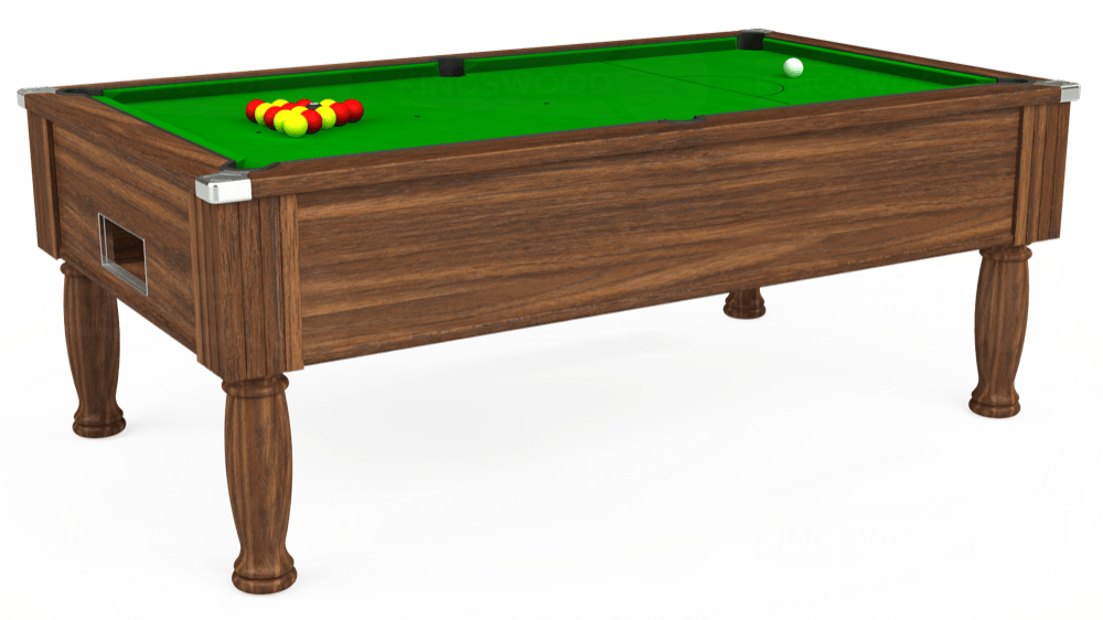 7ft Monarch Free Play Pool Table in Dark Walnut with Standard Green cloth delivered and installed - £1,150.00