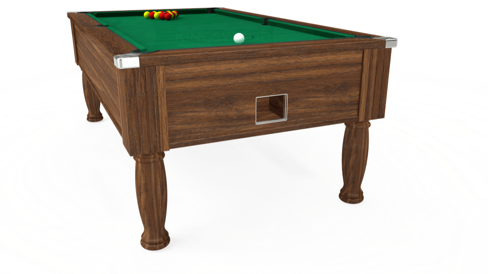 7ft Monarch Free Play Pool Table in Dark Walnut with Hainsworth Elite-Pro American Green cloth delivered and installed - £1,170.00