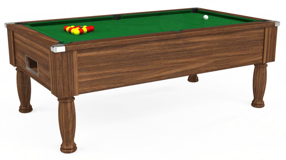 7ft Monarch Free Play Pool Table in Dark Walnut with Hainsworth Elite-Pro English Green cloth delivered and installed - £1,150.00