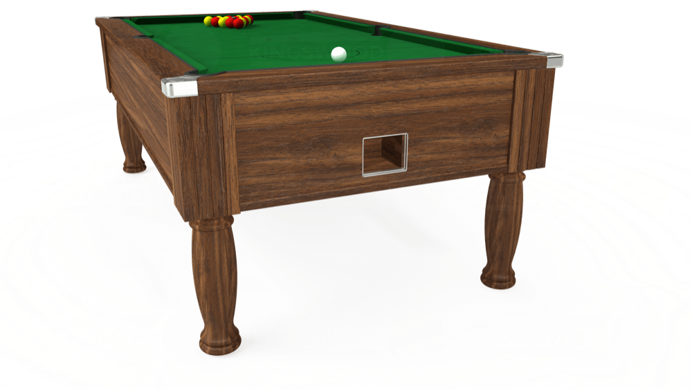 7ft Monarch Free Play Pool Table in Dark Walnut with Hainsworth Elite-Pro English Green cloth delivered and installed - £1,170.00