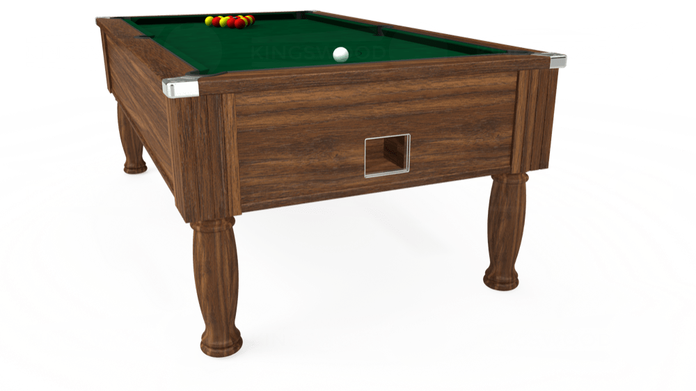 7ft Monarch Free Play Pool Table in Dark Walnut with Hainsworth Elite-Pro Spruce cloth delivered and installed - £1,170.00