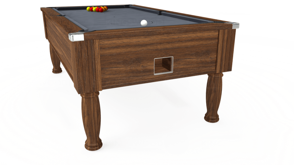 7ft Monarch Free Play Pool Table in Dark Walnut with Hainsworth Smart Silver cloth delivered and installed - £1,250.00