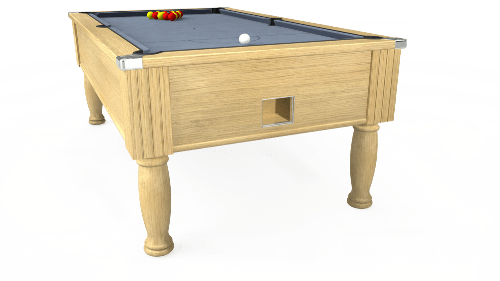 7ft Monarch Free Play Pool Table in Light Oak with Hainsworth Elite-Pro Bankers Grey cloth delivered and installed - £1,250.00