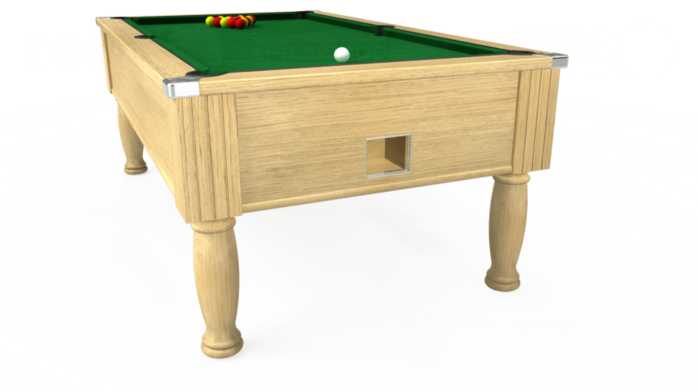 7ft Monarch Free Play Pool Table in Light Oak with Hainsworth Elite-Pro English Green cloth delivered and installed - £1,150.00