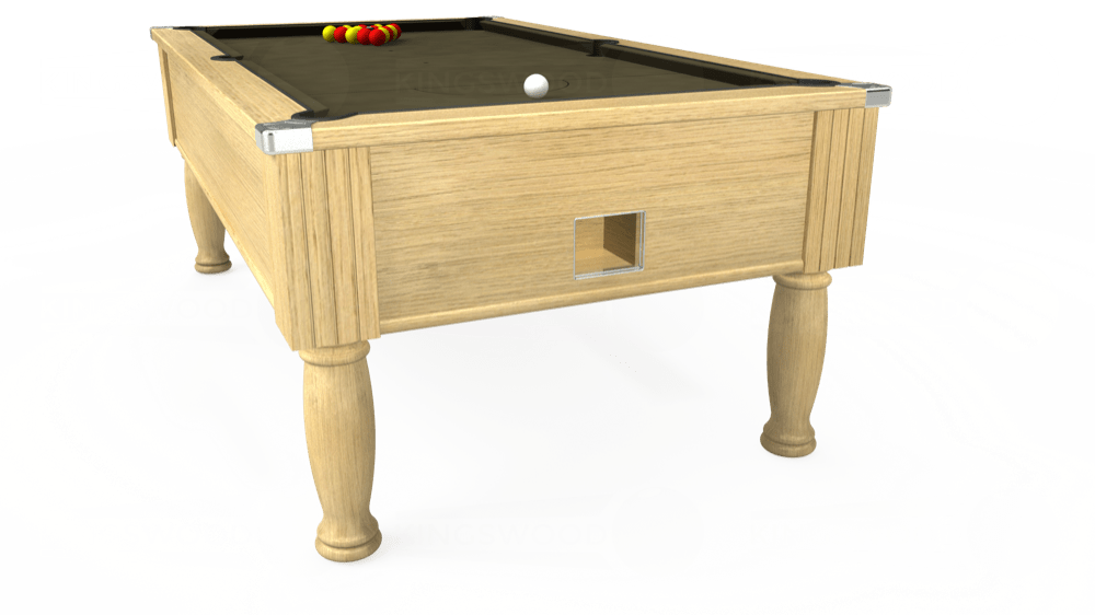 7ft Monarch Free Play Pool Table in Light Oak with Hainsworth Elite-Pro Olive cloth delivered and installed - £1,250.00