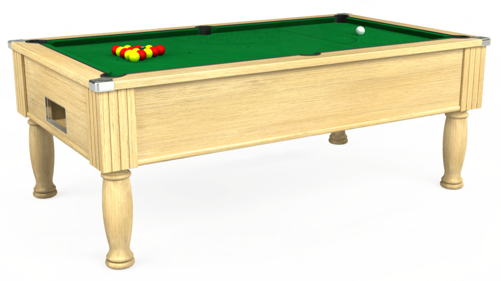 7ft Monarch Free Play Pool Table in Light Oak with Hainsworth Smart Olive cloth delivered and installed - £1,250.00