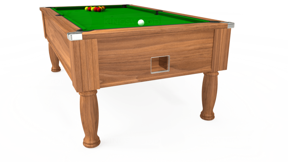 7ft Monarch Free Play Pool Table in Light Walnut with Standard Green cloth delivered and installed - £1,150.00