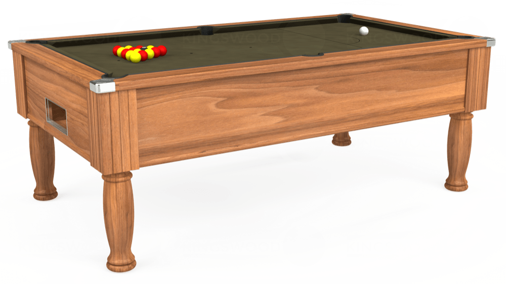 7ft Monarch Free Play Pool Table in Light Walnut with Hainsworth Elite-Pro Olive cloth delivered and installed - £1,250.00