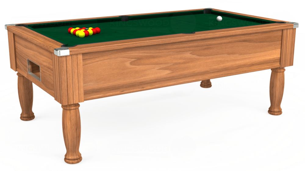 7ft Monarch Free Play Pool Table in Light Walnut with Hainsworth Elite-Pro Spruce cloth delivered and installed - £1,250.00
