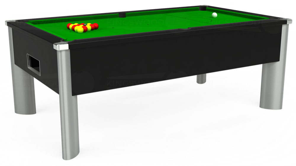 7ft Monarch Fusion Free Play Pool Table in Black with Standard Green cloth delivered and installed - £1,200.00