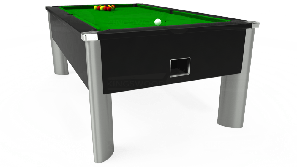 7ft Monarch Fusion Free Play Pool Table in Black with Standard Green cloth delivered and installed - £1,140.00
