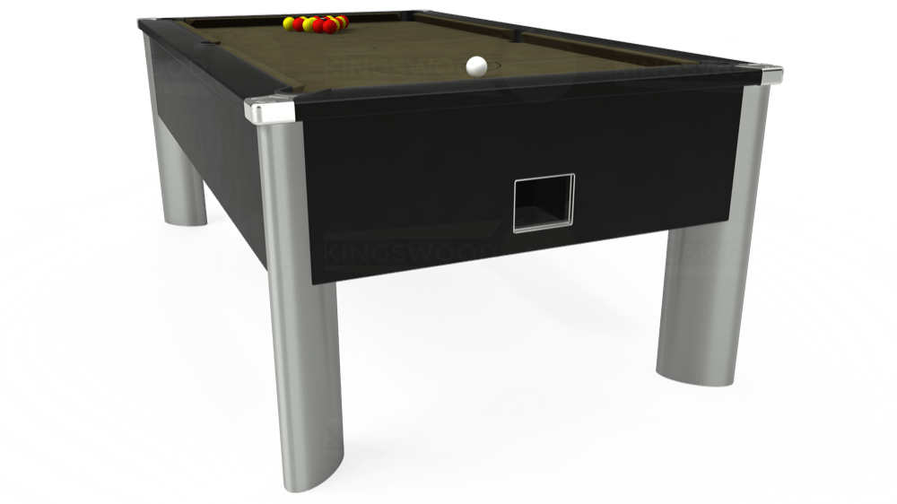 7ft Monarch Fusion Free Play Pool Table in Black with Hainsworth Elite-Pro Olive cloth delivered and installed - £1,300.00