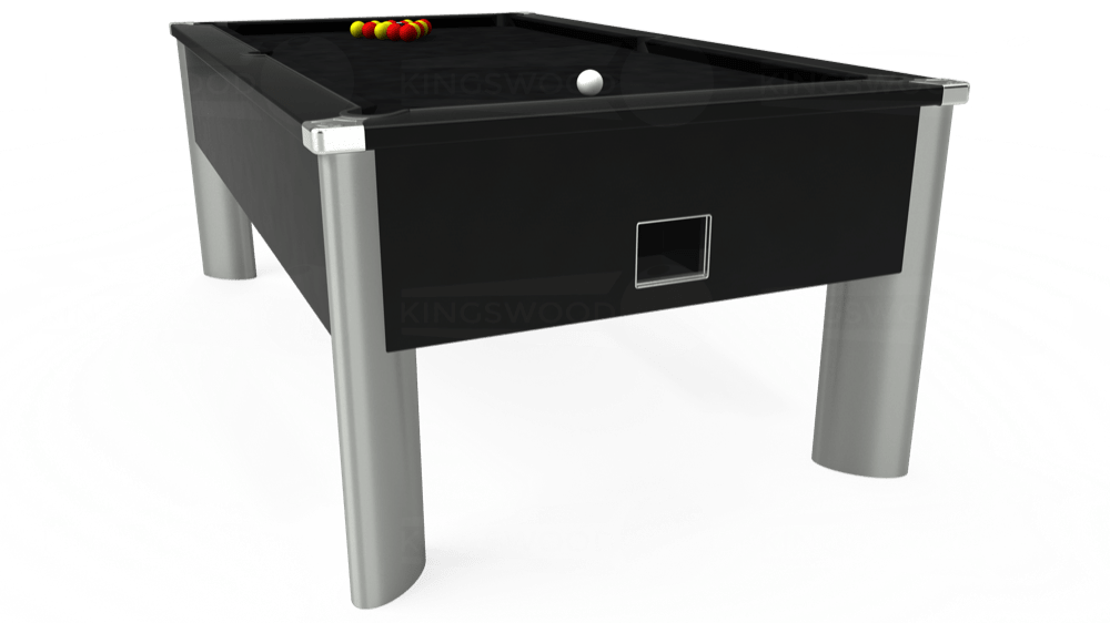 7ft Monarch Fusion Free Play Pool Table in Black with Hainsworth Smart Black cloth delivered and installed - £1,300.00