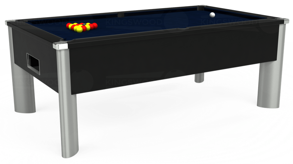 7ft Monarch Fusion Free Play Pool Table in Black with Hainsworth Smart French Navy cloth delivered and installed - £1,300.00