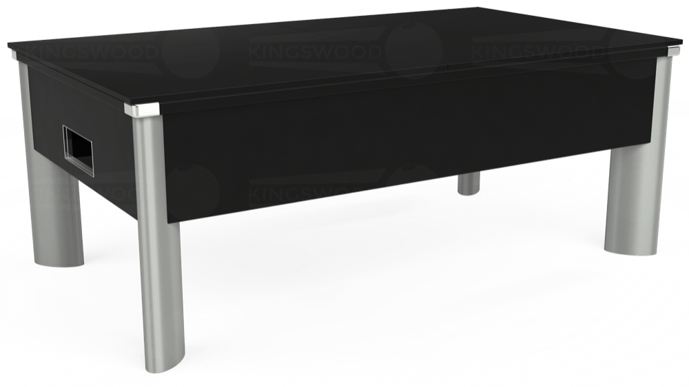 7ft Monarch Fusion Free Play Pool Table in Black with Hainsworth Smart Olive cloth delivered and installed - £1,300.00