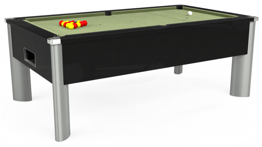 7ft Monarch Fusion Free Play Pool Table in Black with Hainsworth Smart Sage cloth delivered and installed - £1,300.00