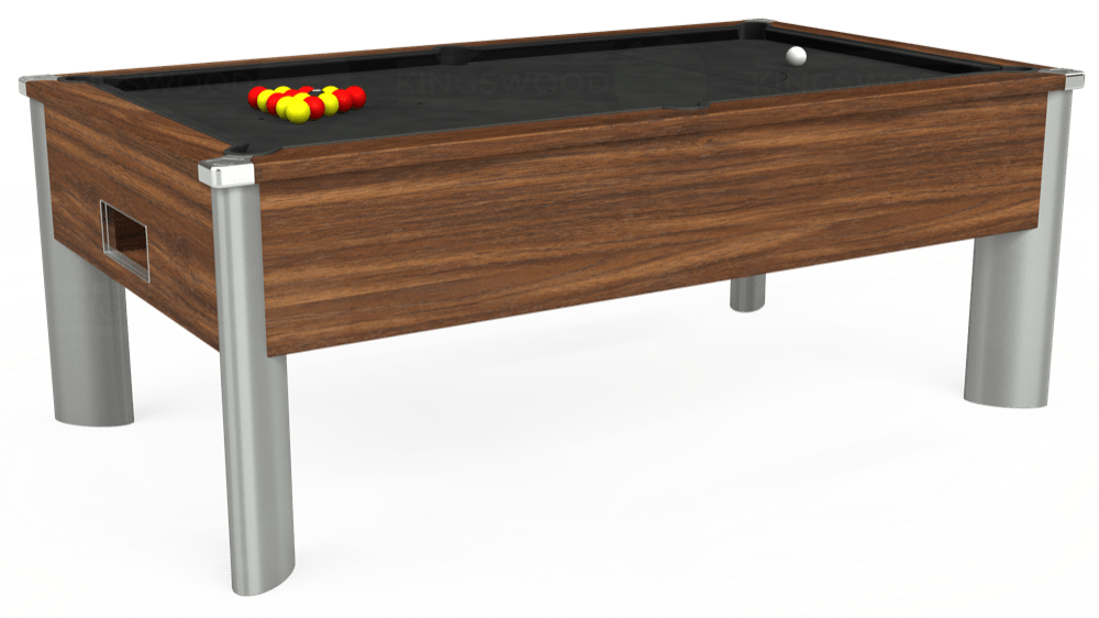 7ft Monarch Fusion Free Play Pool Table in Dark Walnut with Standard Black cloth delivered and installed - £1,200.00