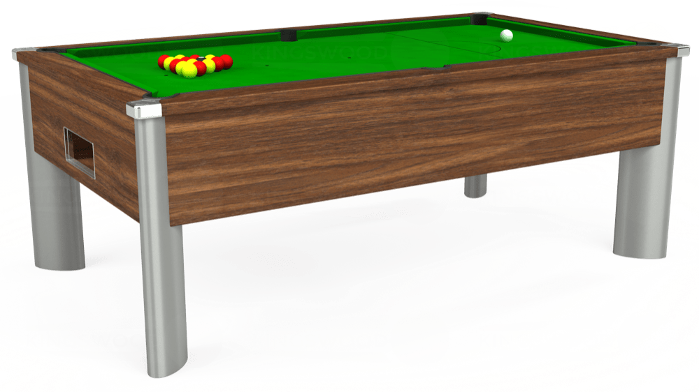 7ft Monarch Fusion Free Play Pool Table in Dark Walnut with Standard Green cloth delivered and installed - £1,075.00