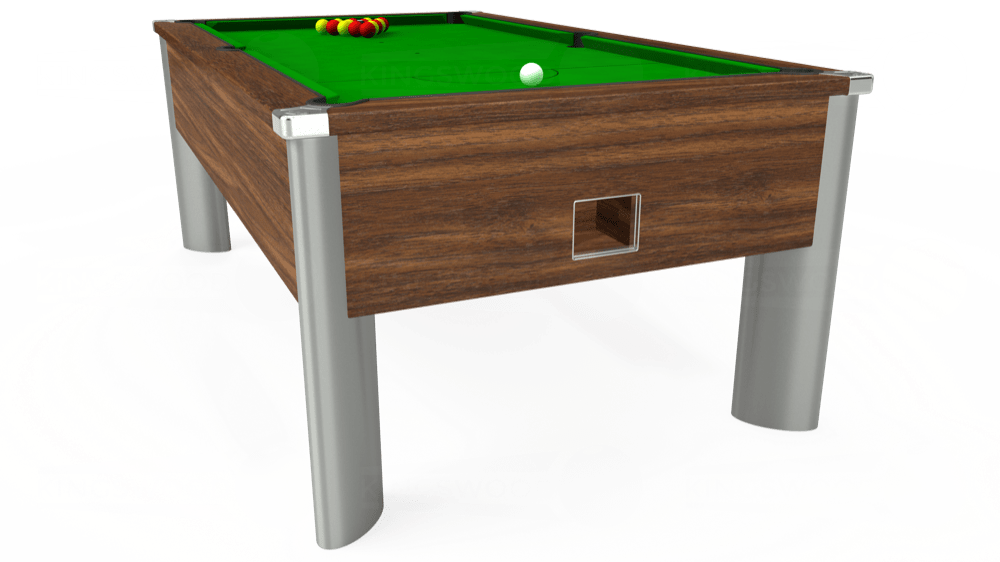 7ft Monarch Fusion Free Play Pool Table in Dark Walnut with Standard Green cloth delivered and installed - £1,200.00