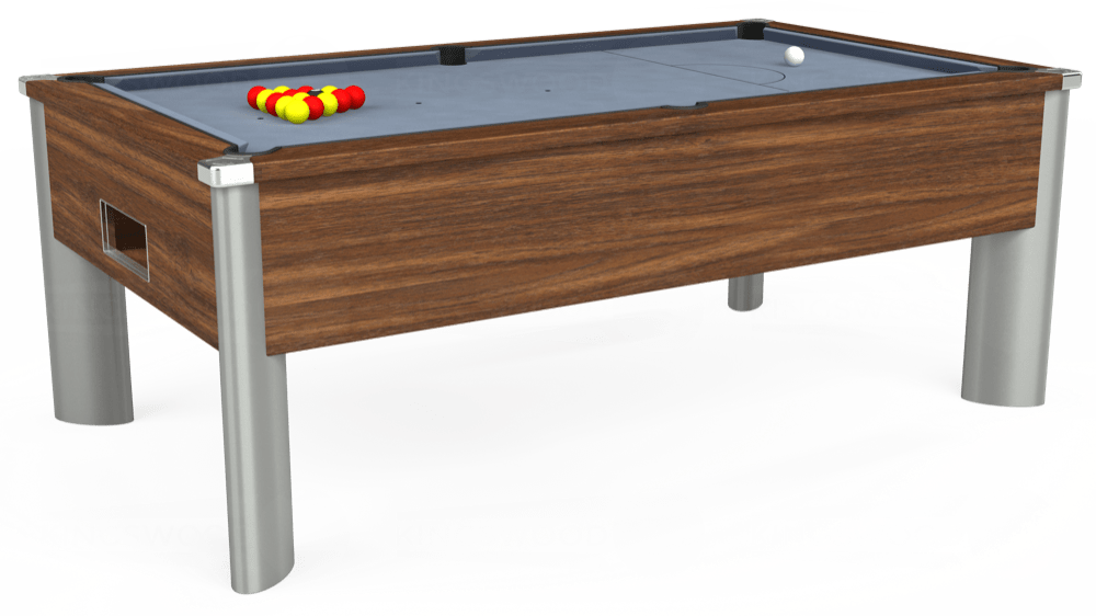 7ft Monarch Fusion Free Play Pool Table in Dark Walnut with Hainsworth Elite-Pro Bankers Grey cloth delivered and installed - £1,240.00