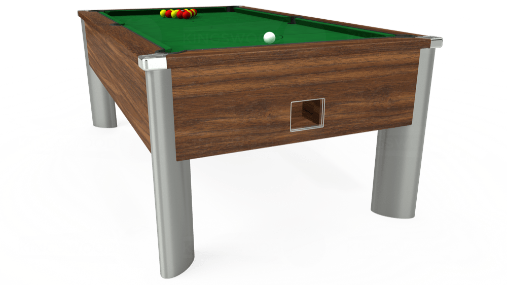 7ft Monarch Fusion Free Play Pool Table in Dark Walnut with Hainsworth Elite-Pro English Green cloth delivered and installed - £1,300.00