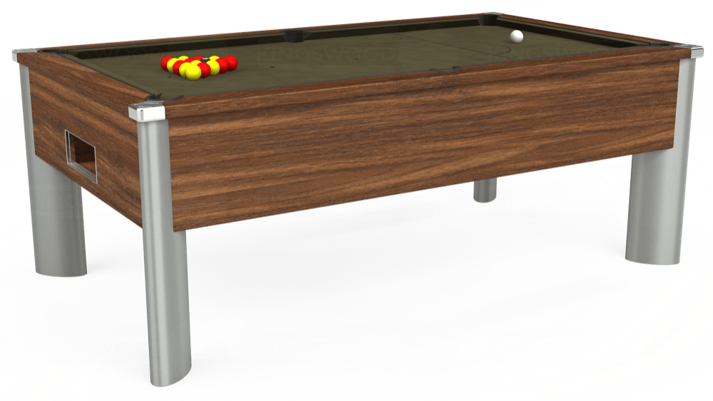 7ft Monarch Fusion Free Play Pool Table in Dark Walnut with Hainsworth Elite-Pro Olive cloth delivered and installed - £1,300.00