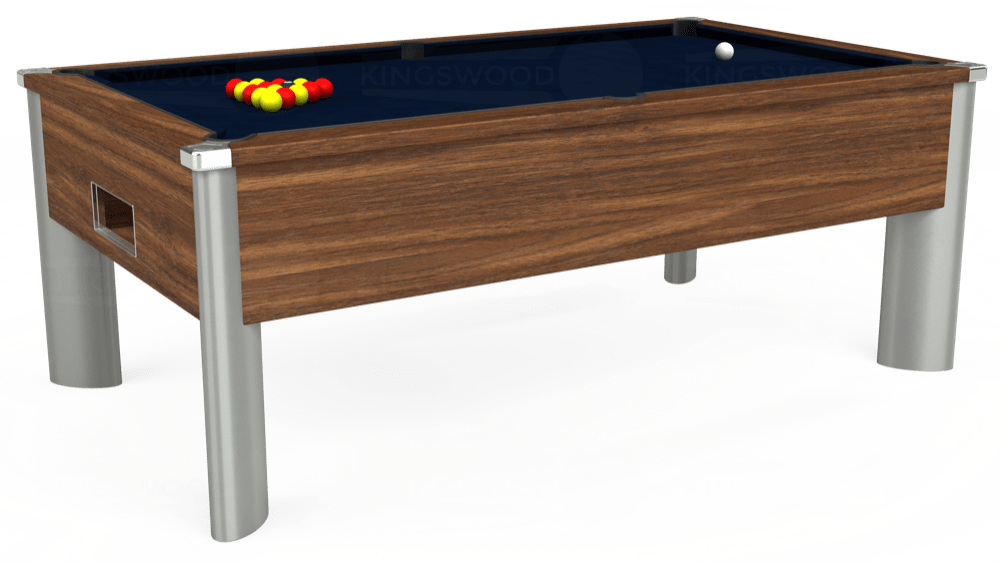 7ft Monarch Fusion Free Play Pool Table in Dark Walnut with Hainsworth Smart French Navy cloth delivered and installed - £1,300.00