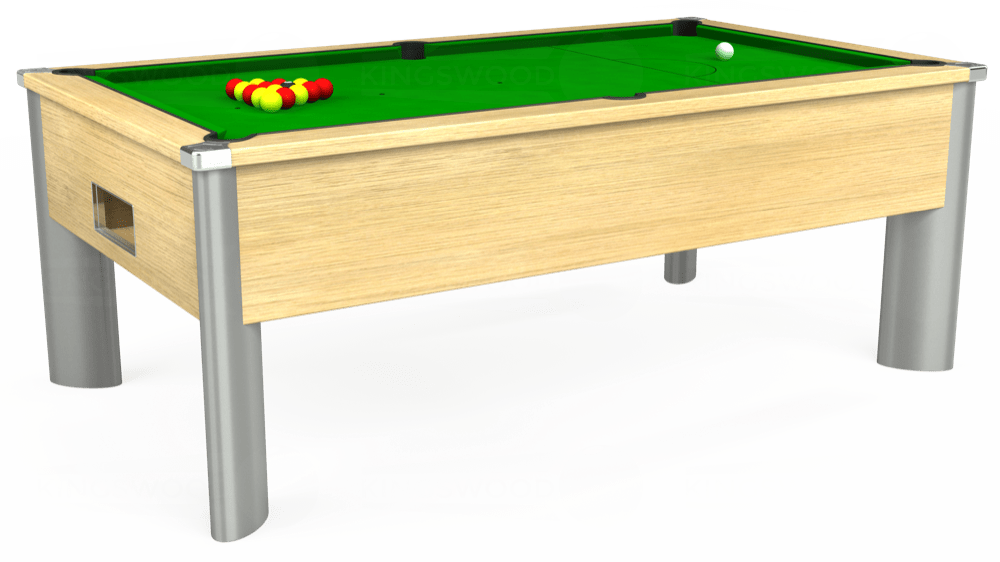 7ft Monarch Fusion Free Play Pool Table in Light Oak with Standard Green cloth delivered and installed - £1,075.00
