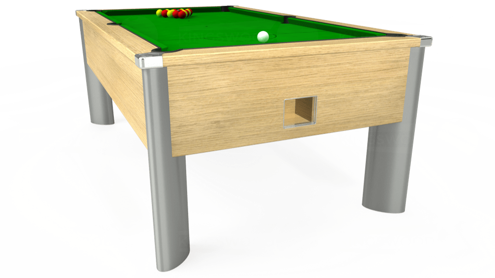 7ft Monarch Fusion Free Play Pool Table in Light Oak with Standard Green cloth delivered and installed - £1,165.00