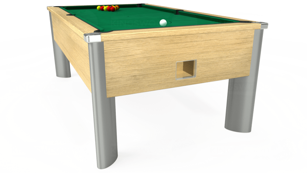 7ft Monarch Fusion Free Play Pool Table in Light Oak with Hainsworth Elite-Pro American Green cloth delivered and installed - £1,300.00