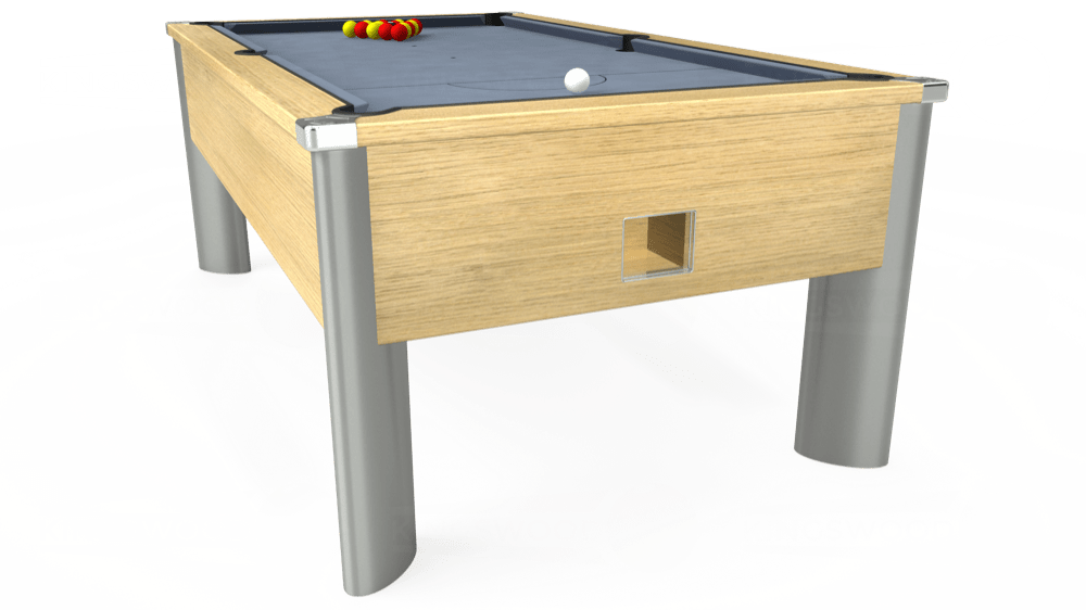 7ft Monarch Fusion Free Play Pool Table in Light Oak with Hainsworth Elite-Pro Bankers Grey cloth delivered and installed - £1,240.00
