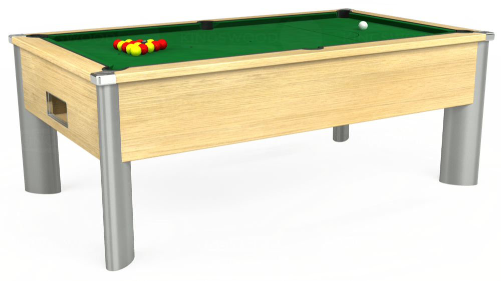 7ft Monarch Fusion Free Play Pool Table in Light Oak with Hainsworth Elite-Pro English Green cloth delivered and installed - £1,240.00