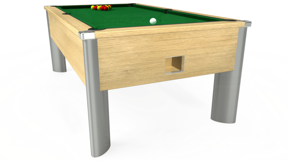 7ft Monarch Fusion Free Play Pool Table in Light Oak with Hainsworth Elite-Pro English Green cloth delivered and installed - £1,265.00